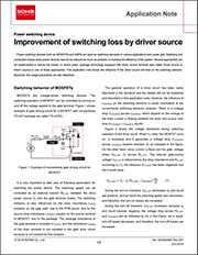 Improving Switching Loss by Driver Source