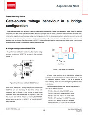 Gate-Source Voltage Behavior in a Bridge Configuration