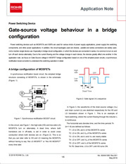 Gate-source voltage behaviour in a bridge configuration