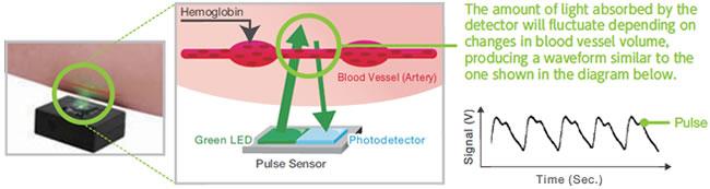 Optical Pulse Sensor Operating Principle