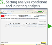3.Setting analysis conditions and initiating analysis