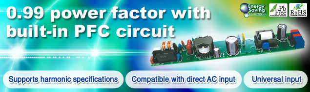 0.99 power factor with built-in PFC circuit