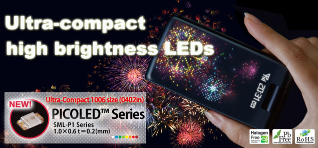 Ultra-compact high brightness LEDs